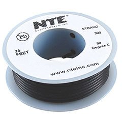 NTE Stranded 26 AWG Hook-Up Wire Black 25 ft.