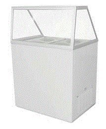 Excellence Edc-4 Ice Cream Dipping Cabinet Straight Glass 4 Can front-541599