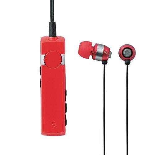 Logitec iPhone5/4/4S/3GS/3G スマートフォン対応 Bluetooth+EDR対応 ワイヤレスヘッドホンマイク 外部レシーバ HP300シリーズ レッド LBT-MPHP300RD