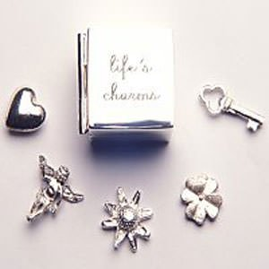 Sterling Silver - Life's Charms in Silver Box - Tales From The Earth - Perfect Christening/Naming Day Gift