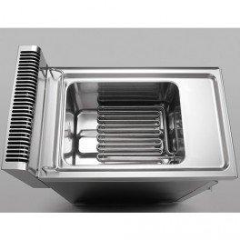M12 Petit /évier rond encastrable 1 bac acier brilliant