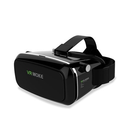 """MOKE 3D VR Headset Glasses Virtual Reality Mobile Phone 3D Movies for iPhone 6s/6 plus/6/5s/5c/5 Samsung Galaxy s5/s6/note4/note5 and Other 4.7""""-6.0"""" Cellphones"""