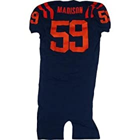 # 59 Madison Syracuse 2006 Game Used Navy Football Jersey - Steiner Sports Certified - Footballs