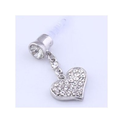 Niceeshop(Tm) Universal 3.5Mm Crystal Heart Dangle Anti Dust Earphone Jack Plug Stopper For Iphone4/4S/5,Ipod,Ipad, Htc, Samsung S3 I9300/S4 I9500/N7100 Etc