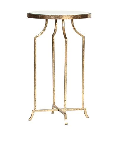 Prima Round Accent Table, Gold