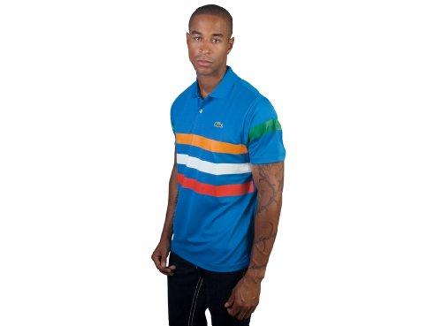 Lacoste Short Sleeve Super Dry Triple Stripe Polo Shirt (XL)