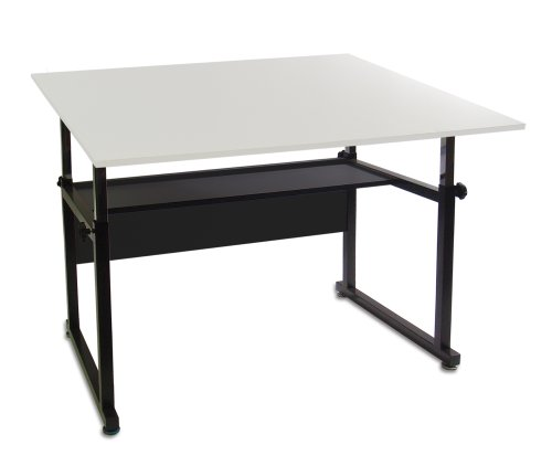 Martin Ridgeline Professional Drafting-Art Table, Black with White Top, 36-Inch by 48-Inch Surface