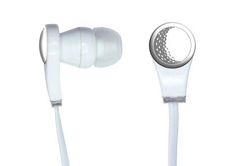 Graphics And More Golf Ball - Golfing Golfer Novelty In-Ear Headphones Earbuds - Non-Retail Packaging - White