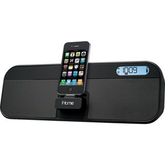 Ihome Id28 App-Enhanced, Rechargeable Portable Speaker System With Fm Stereo Clock Radio, For Ipad, Iphone And Ipod
