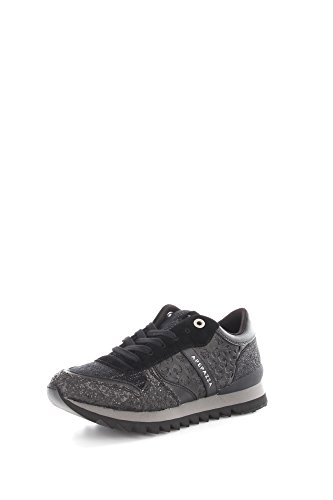 Apepazza DLY09 Sneakers Donna Pelle/Tessuto Nero Nero 38