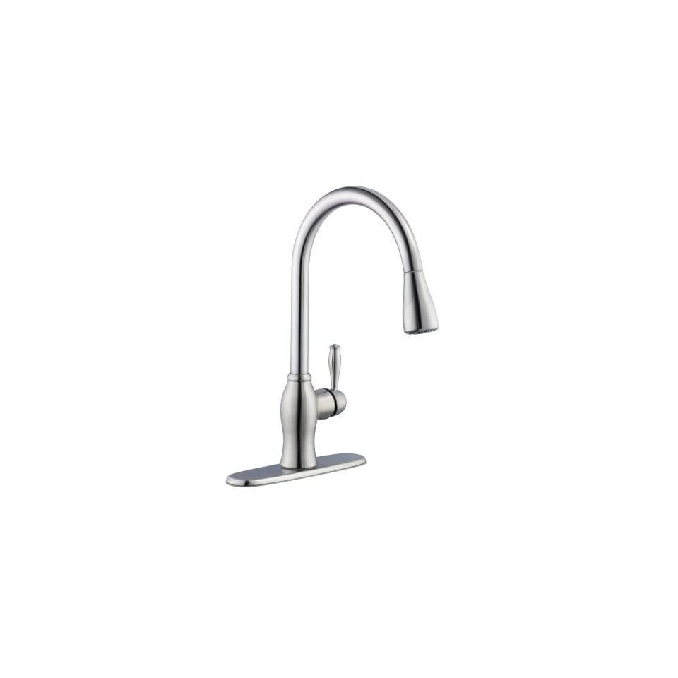 Pegasus 67403 1108D2 1050 Series Single Handle Pull Down Sprayer Kitchen Faucet in Stainless Steel
