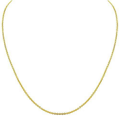 14k Yellow Gold 1.5mm Rolo Chain Necklace, 24
