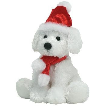TY Beanie Baby - PUPPY CLAUS the Dog (BBOM December 2007)
