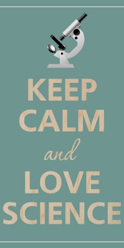 Keep Calm And Love Science Microscope - Plywood Wood Print Poster Wall Art
