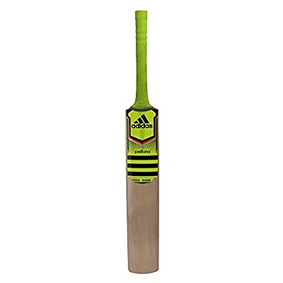 Adidas 7062 Pellara League English Willow Cricket Bat With Padded Cover (Syello/Solred/Black)