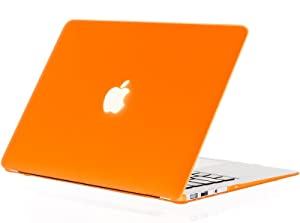 "Kuzy - AIR 13-inch ORANGE Rubberized Hard Case Cover SeeThru for Apple MacBook Air 13.3"" (A1369 and A1466) - Orange"
