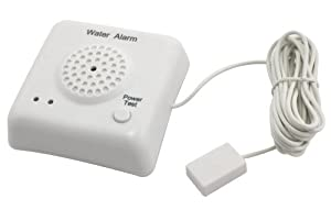 Water Leak Detector Alarm with remote sensor (batteries included)