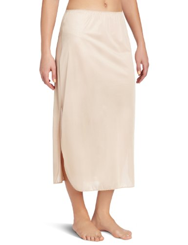 Vanity Fair Women's Tricot Double Slit Half Slip, Damask Neutral, X-Large 32 Inch