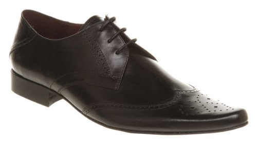 Poste No Point Brogue Two Black Leather - 11 Uk