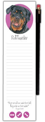 RottweilerMagnetic Refrigerator Note Pad with Pencil