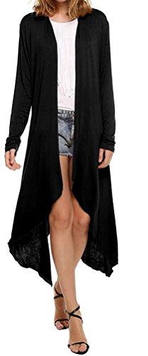 SunIfSnow -  Cappotto  - Impermeabile - Basic - Maniche lunghe  - Donna Black Medium