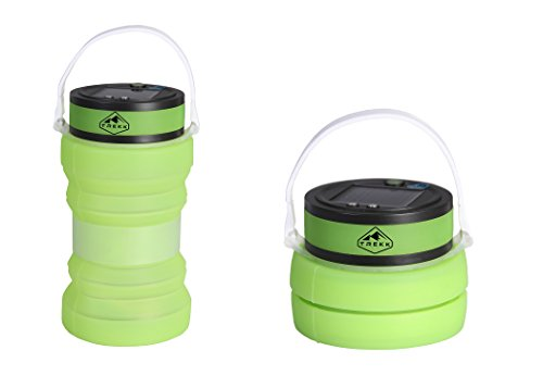 Trekk Solar Camping Lantern With Waterproof Silicone Storage | USB Charger | Three LED Light Settings | Lightweight Compact Camp Gear | Outdoor Survival Lamp for Hiking Fishing Emergency Outages (Casa De Camper compare prices)
