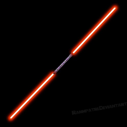 "Galleon - 52"" Red Double Bladed Dual 2-Sided Sith ..."