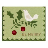 The Gift Wrap Company, 20-Count Small Holiday Cards, Be Merry front-506506