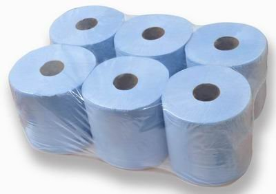 6-rolls-of-2ply-blue-centrefeed-blue-paper-tissue-paper-rolls-brand-new