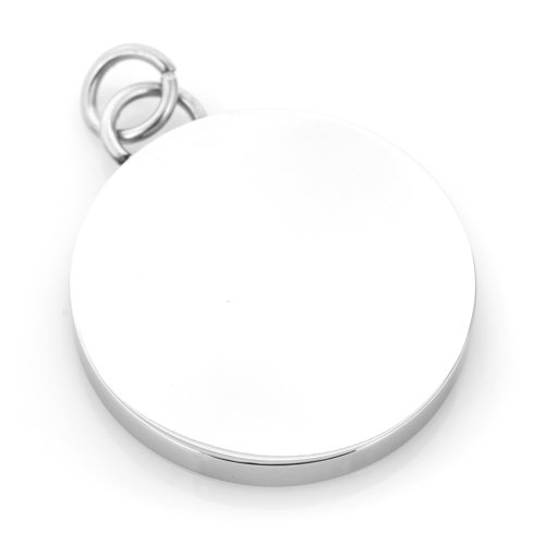 Ox And Bull Stainless Steel Engravable Round Infinity Pedant