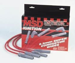 MSD Co. 32119 Spark Plug Wire Sets - MSD 8.5mm Super Conductor Spark Plug Wire Sets Spark Plug Wires - Super Conductor - Spiral Core - 8.5mm - Red - Multi-Angle Boots - Chevy - GMC - 454 - Set (Msd Spark Plug Wires Chevy compare prices)