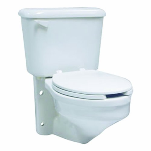Crane 1377V-100 Rexmont Elongated Wall-Mount Toilet with Back Outlet, White