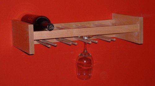 Wine & Stemware Rack, Natural