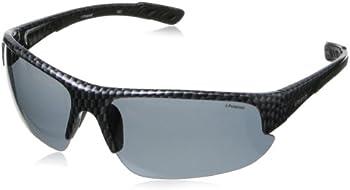 Polaroid Carbon Fiber Pattern Black Men's Polarized Sunglasses