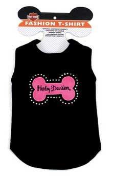 Harley Davidson T - shirt Blk W/pink Bone Small