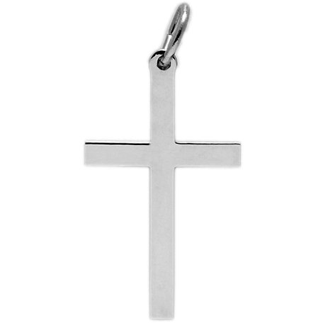 Rembrandt Charms Cross Charm, Rhodium Plated Silver