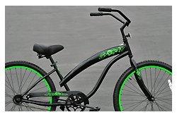 Fito Modena Sport 1-speed Women - Black/Neon Green, 26