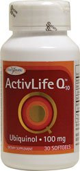 Enzymatic Therapy Activlife Q10 Ubiquinol 100 Mg Softgels, 30 Ct
