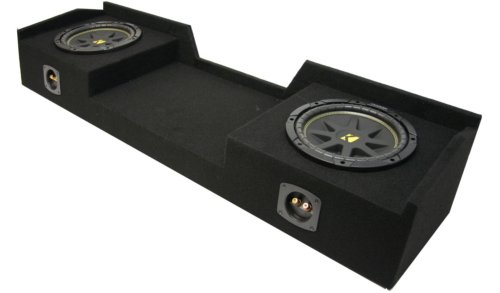 "Asc Package Nissan Titan 04-12 King Or Crew Cab Truck Dual 10"" Kicker C10 Subwoofer Sub Box Enclosure 600 Watts Peak"
