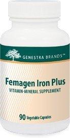 Genestra: Femagen Iron Plus 90 Vegetable Capsules By Seroyal