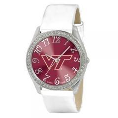 Virginia Tech Glitz White Watch Sports Ncaa Fashion Jewelry Accessory