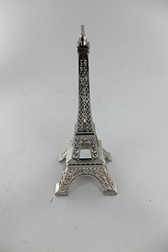 Stunning Silver Eiffel Tower Paris France Statue 10