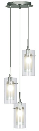 Duo 11 Triple Pendant With Mess . 40 Watt E14 Lamps