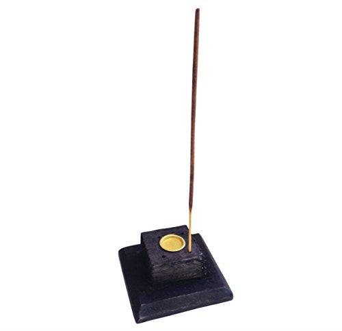 Soporte para Incienso de la torre de Vertical negro pentagrama Star woofers de madera de fresno con restos de papel y no incienso