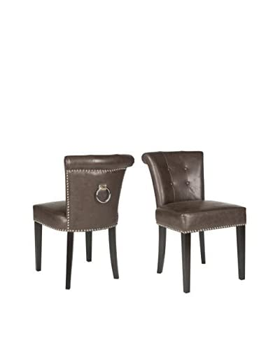 Safavieh Set of 2 Sinclair Ring Chairs, Antique Brown