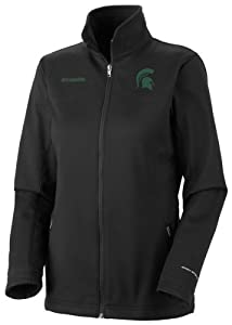 Michigan State Spartans Ladies Black Columbia Kruser Ridge Softshell Jacket by Columbia