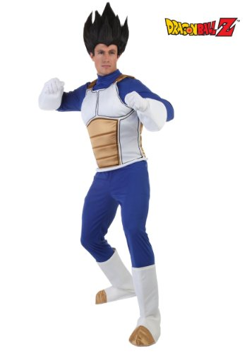 [Fun Costumes mens Adult Vegeta Costume Large] (Bulma Costume)