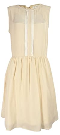 Jessica Simpson Fit & Flare Dress Cream Pink (8)