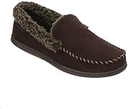 Dearfoams Mens Fur Slip on Loafers Moccasins
