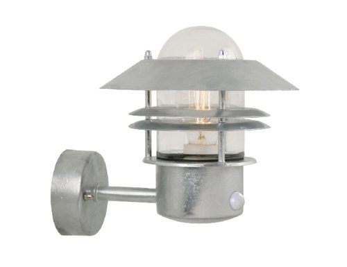 Nordlux Blokhus Galvanized Steel Outdoor Wall Light with Sensor